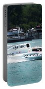 Roostertail From Racing Hydroplanes Boats On The Detroit River For Gold Cup Portable Battery Charger