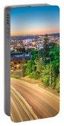 Spokane Washington City Skyline And Streets Portable Battery Charger