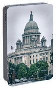 The Rhode Island State House On Capitol Hill In Providence Portable Battery Charger