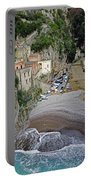 This Is A View Of Furore A Small Village Located On The Amalfi Coast In Italy  Portable Battery Charger