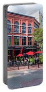 Outdoor Cafe In Gastown, Vancouver, British Columbia, Canada Portable Battery Charger
