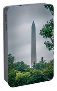 Washington Mall Monumet On A Cloudy Day Portable Battery Charger
