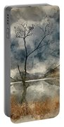 Watercolour Painting Of Beautiful Autumn Fall Landscape Image Of Portable Battery Charger