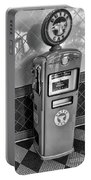 50's Gas Pump Bw Portable Battery Charger