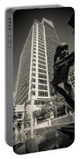 Charlotte North Carolina Cityscape During Autumn Season Portable Battery Charger