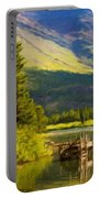 Landscape Painting Acrylic Portable Battery Charger
