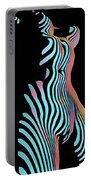 5278s-mak Zebra Striped Nude Woman Rendered In Composition Style Portable Battery Charger by Chris Maher