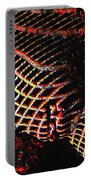 5502s-mak Abstract Vulval Portrait In Red Portable Battery Charger by Chris Maher