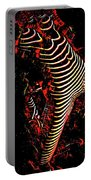 5807s-mak Abstract Nude Woman Bending Backwards Rendered In Red Oils Portable Battery Charger by Chris Maher