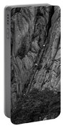 5840- Yellow Mountains Black And White Portable Battery Charger