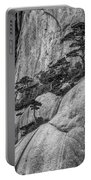 5867- Yellow Mountains Black And White Portable Battery Charger