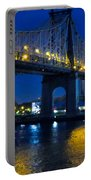 59th Street Bridge At Dusk Portable Battery Charger