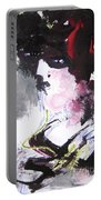 Abstract Figure Art Portable Battery Charger