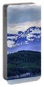Alaska Nature And Mountain In June At Sunset Portable Battery Charger