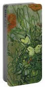 Butterflies And Poppies Portable Battery Charger