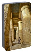 Colonnade In An Egyptian Temple Portable Battery Charger