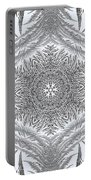 Fern Frost Mandala Portable Battery Charger