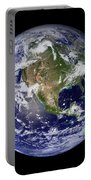 Full Earth Showing North America Portable Battery Charger by Stocktrek Images