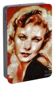 Ginger Rogers Hollywood Actress And Dancer Portable Battery Charger