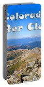 Hikers And Scenery On Mount Yale Colorado Portable Battery Charger