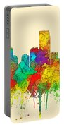 Jersey City New Jersey Skyline Portable Battery Charger
