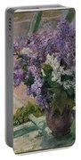 Lilacs In A Window Portable Battery Charger