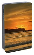 Orange Sunrise Seascape Portable Battery Charger