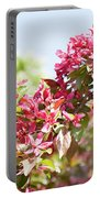 Pink Cherry Flowers Portable Battery Charger
