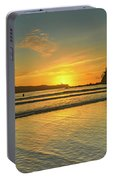 Sunrise Seascape From The Beach Portable Battery Charger