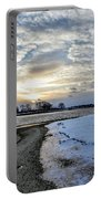 Sunset Over Obear Park In Snow Portable Battery Charger