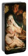 The Holy Family With Shepherds Portable Battery Charger
