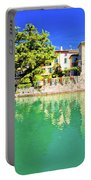 Town Of Sirmione Entrance Walls View Portable Battery Charger