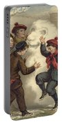 Vintage Christmas Card Portable Battery Charger