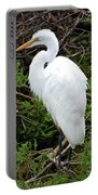 White Egret Portable Battery Charger