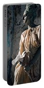 Woman In Bronze Statue Look With Patina Body Paint Portable Battery Charger