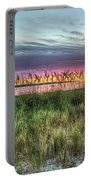 Yorktown Beach At Sunrise Portable Battery Charger