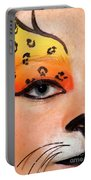 Young Female Model With Make Up Mask Portable Battery Charger