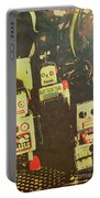 60s Cartoon Character Robots Portable Battery Charger