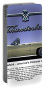 '66 Thunderbird Convertible Portable Battery Charger