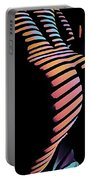 6799s-nlj Zebra Striped Nude By Window Rendered In Composition Style Portable Battery Charger by Chris Maher