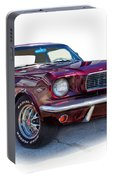 69 Ford Mustang Portable Battery Charger by Mamie Thornbrue