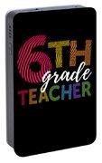 6th Grade Teacher Light For Sixth Grade Teachers Cute Gift Portable Battery Charger