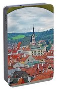 A View Of Cesky Krumlov In The Czech Republic Portable Battery Charger