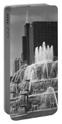 Chicago Skyline And Buckingham Fountain Portable Battery Charger