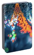 Christmas Season Decorationsafter Sunset At The Gardens Portable Battery Charger