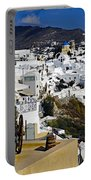 Cliff Perched Houses In The Town Of Oia On The Greek Island Of Santorini Greece Portable Battery Charger