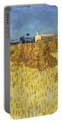Corn Harvest In Provence Portable Battery Charger