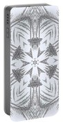 Fern Frost Mandala Portable Battery Charger