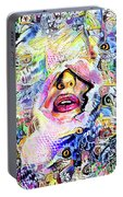 Hidden Face With Lipstick Portable Battery Charger