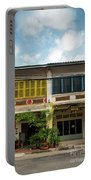 Old French Colonial Architecture In Kampot Town Street Cambodia Portable Battery Charger
